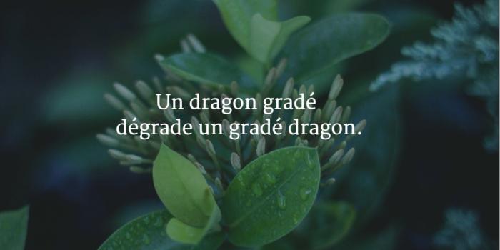Un dragon gradé dégrade un gradé dragon.