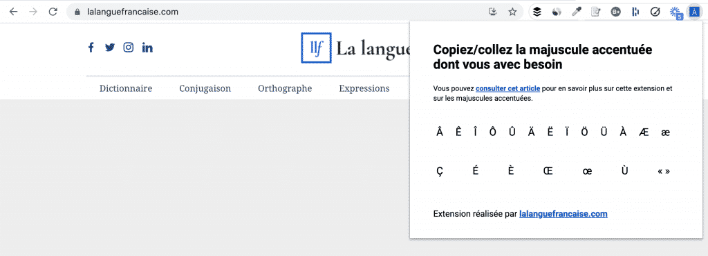 extension majuscules accentuées