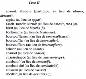anomalies orthographe française