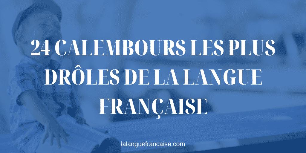 24 calembours les plus drôles de la langue française