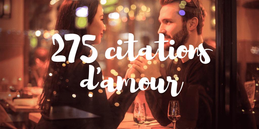 275 magnifiques citations d'amour en français