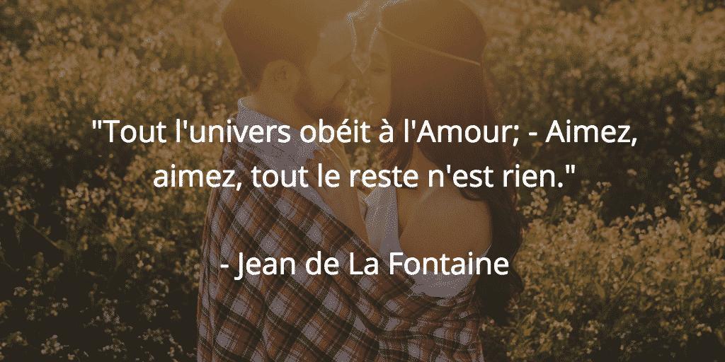 citation amour Jean deLa Fontaine
