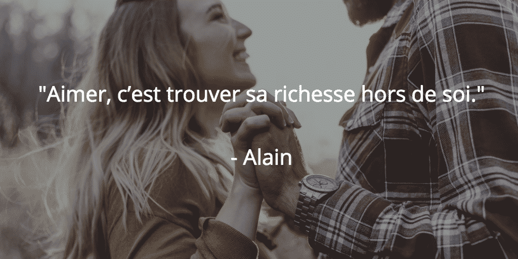 Alain citation amour