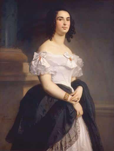 Adele Hugo / Gemaelde von Louis Boulanger