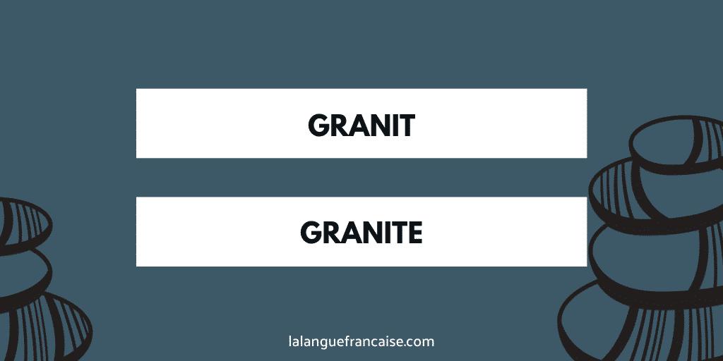 «Granit» ou «granite»?