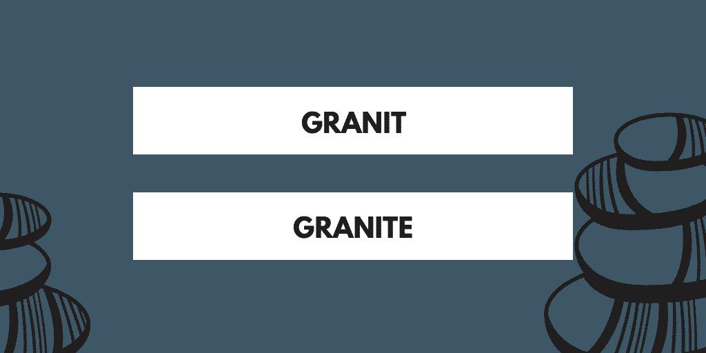 granit ou granite