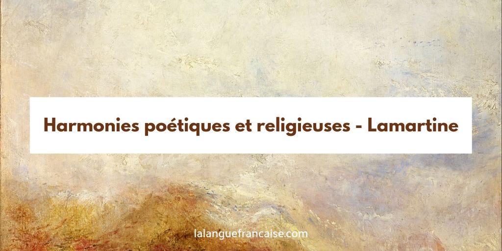 Harmonies poétiques et religieuses Alphonse de Lamartine