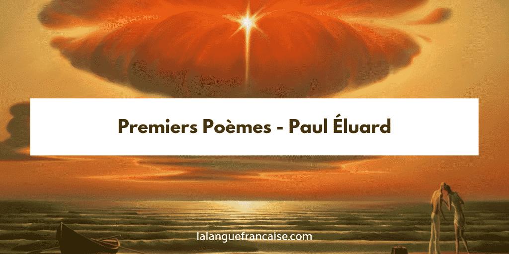 Premiers poèmes Paul Éluard