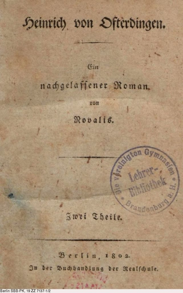 Heinrich von Ofterdingen couverture