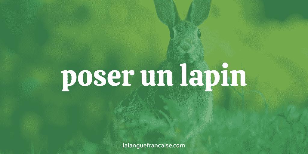 Poser un lapin : définition et origine de l'expression