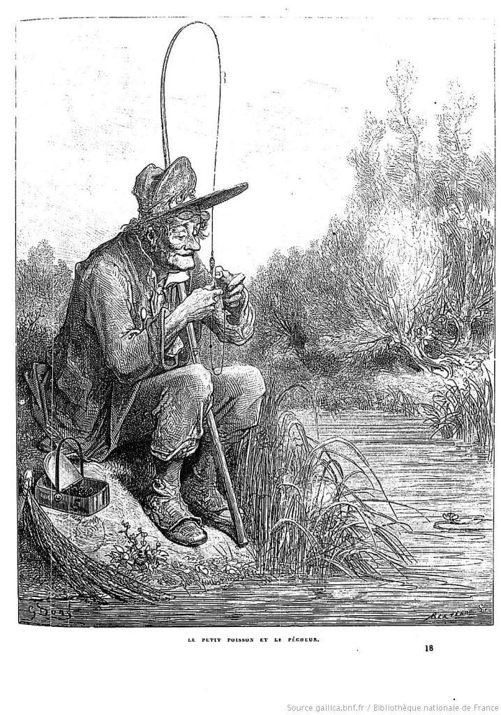 Le Petit Poisson et le Pêcheur par Gustave Doré, 1867