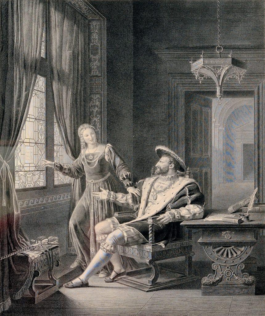 François Ier et Marguerite de Navarre, 1817
