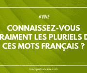 Quiz: connaissez-vous vraiment les pluriels de ces mots français?