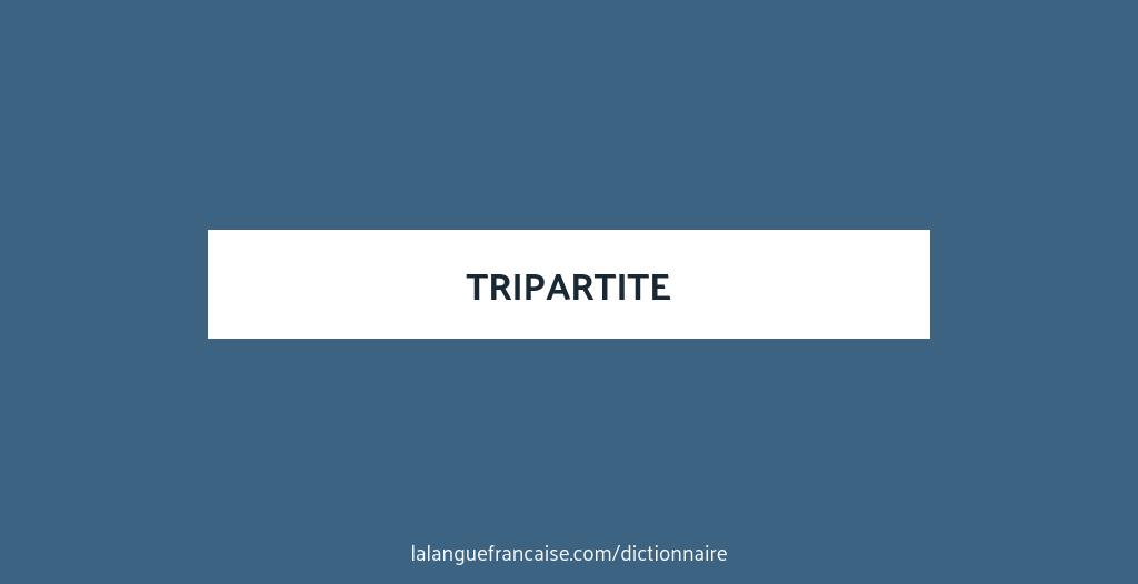 rencontre tripartite définition)
